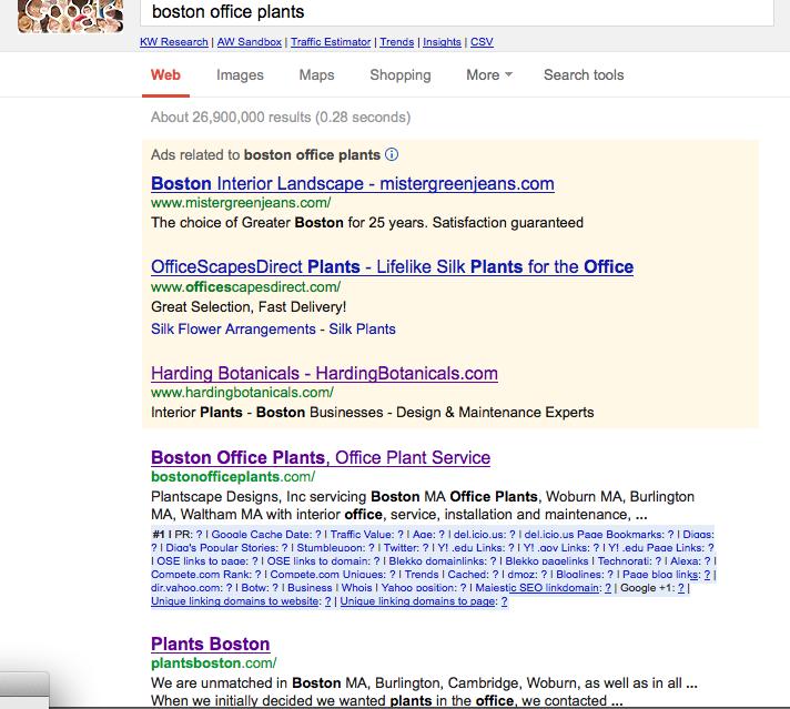 boston office plants screen shot